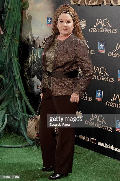 Fedra Lorente attends 'Jack el Caza Gigantes' premiere photocall at Kinepolis cinema on March 13 2013 in Madrid Spain
