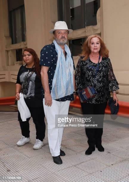 Fedra Lorente attends the Camilo Sesto Chapel at Spanish Copyright Association on September 09 2019 in Madrid Spain