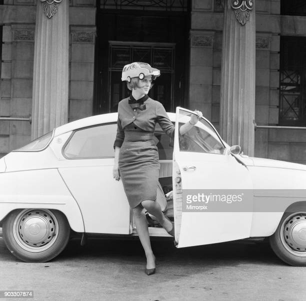 Fee 75 for online and 150 for print Miss Patricia McKenzie of Bagot Street Liverpool wears the car hat in aid of thalidomide children Patricia...