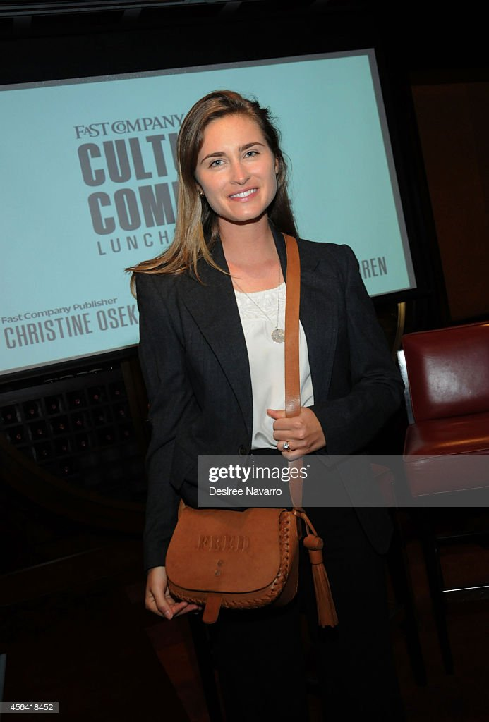 Feed Founder and CEO Lauren Bush Lauren attends Fast Company Culture and Commerce Lunch (FEED) during AWXI on September 30, 2014 in New York City.