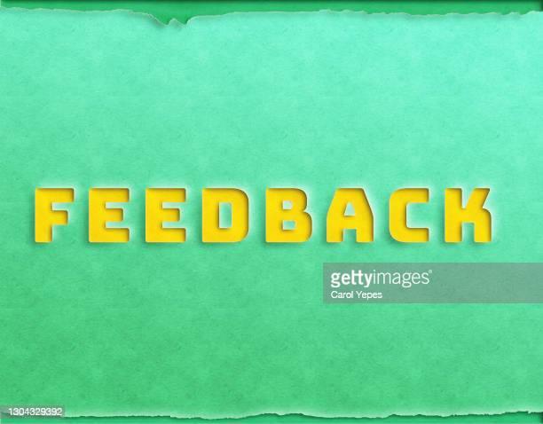 feedback paper work - feedback stockfoto's en -beelden