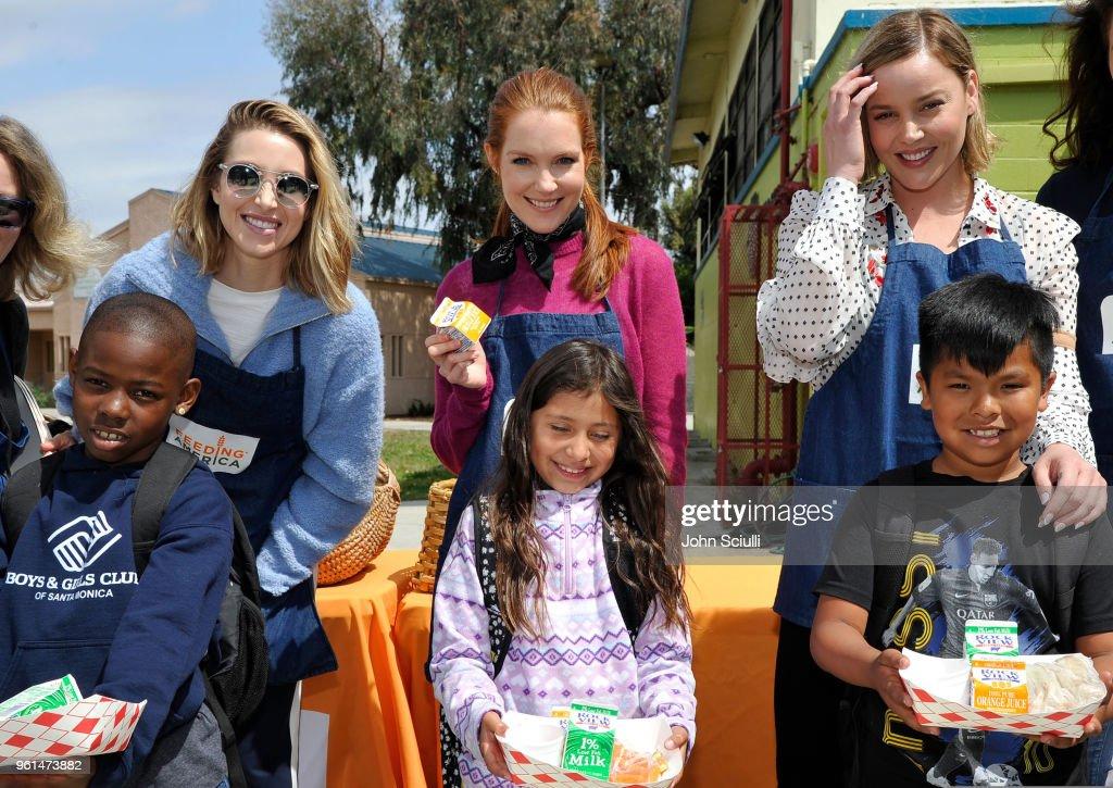 feeding america s celebrity friends volunteer at boys girls club