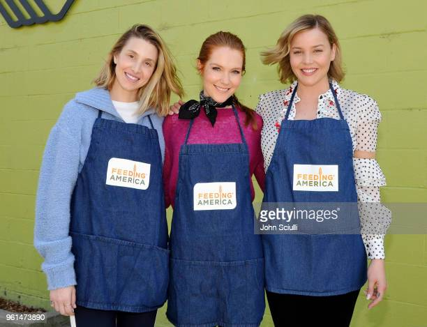 Feeding America's celebrity friends Whitney Port Darby Stanchfield and Abbie Cornish volunteer at Boys Girls Club of Santa Monica's afterschool...