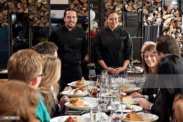 TOP CHEF Feeding Fallon Episode 809 Pictured Contestants Fabio Viviani Antonia Lofaso judge Gail Simmons