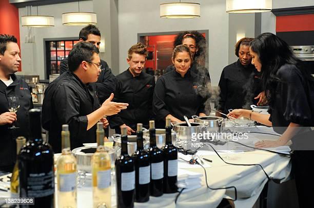"Feeding Fallon"" Episode 809 -- Pictured: Contestants Mike Isabella, Dale Talde, Angelo Sosa, Richard Blais, Antonia Lofaso, Carla Hall, Tiffany..."