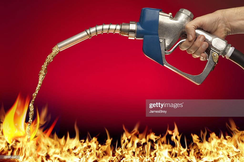 how to put out a gasoline fire