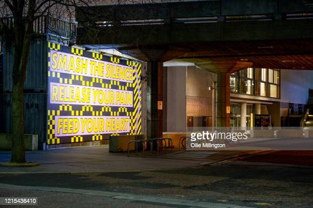 Feel good logon seen painted on the wall under the Royal Festival Hall on March 28, 2020 in London, England. British Prime Minister, Boris Johnson,...