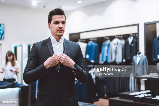 i feel like a real businessman in this suit - men fashion stock pictures, royalty-free photos & images