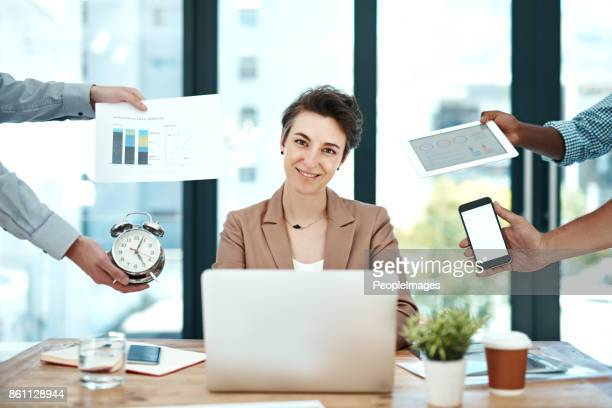 i feel more creative when i'm under the gun - time management stock photos and pictures