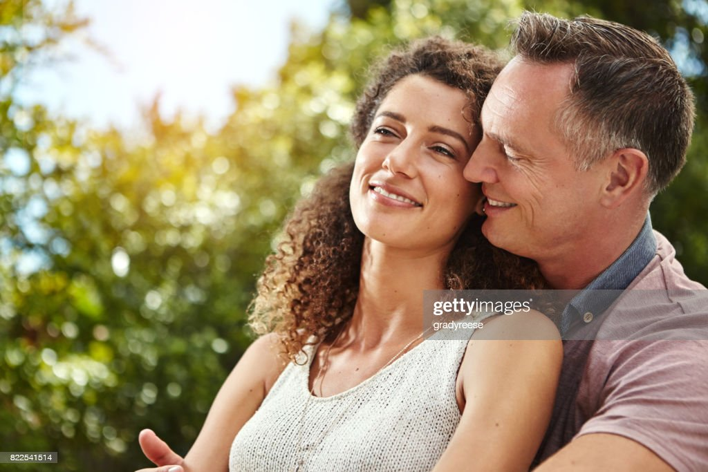 I feel so safe in your arms : Stock Photo