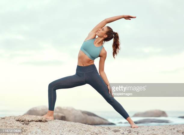 feel the positive energy flow through your body - sportswear stock pictures, royalty-free photos & images