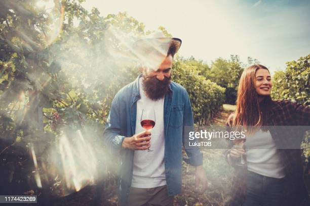 feel the sun, taste the wine and smile - winery stock pictures, royalty-free photos & images
