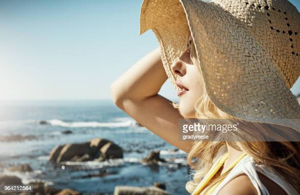 feel the sunlight, be like sunlight - straw hat stock pictures, royalty-free photos & images