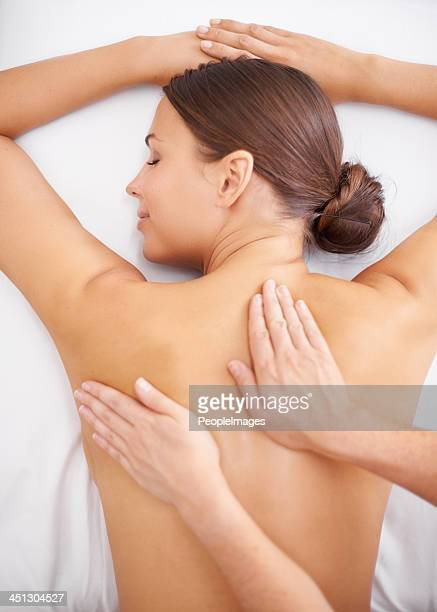 feel your stress melt away - massage stock photos and pictures