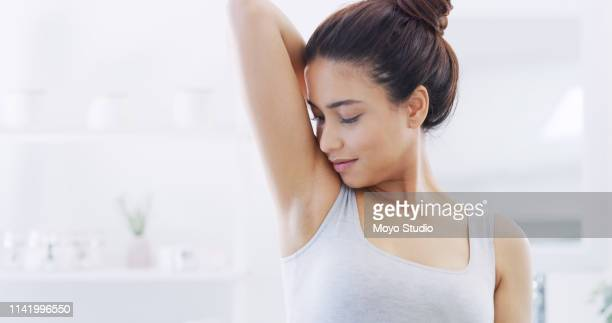 feeling and smelling fresh - armpit stock pictures, royalty-free photos & images