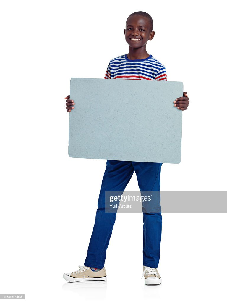 Feeling confident about his message : Stock Photo