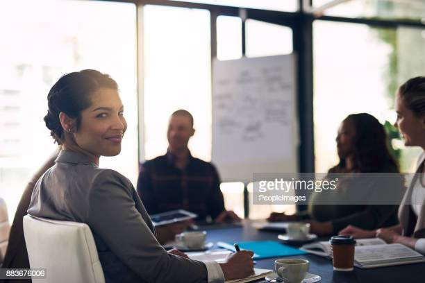Feeling confident at the meeting