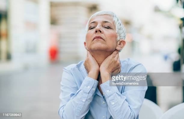 feeling down - menopause stock photos and pictures