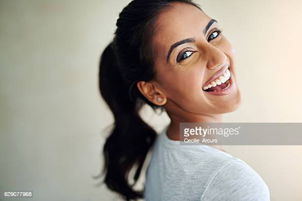 feeling fantastic and it shows - indian woman stock photos and pictures