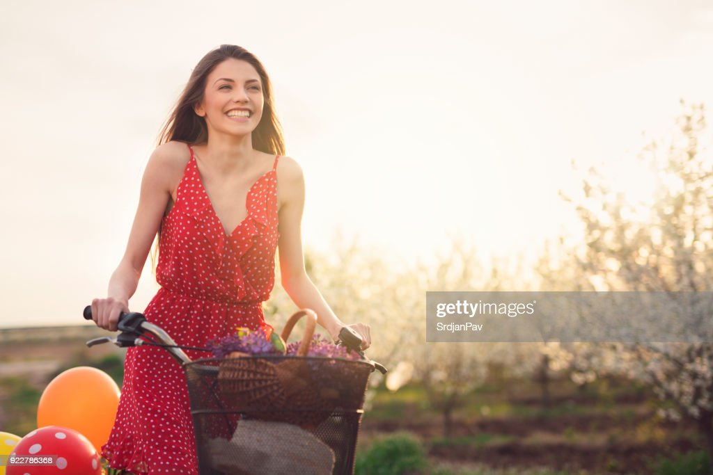 Feeling Free And Happy This Magical Spring Day : Stock Photo
