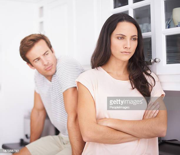 feeling misunderstood - couple arguing stock photos and pictures
