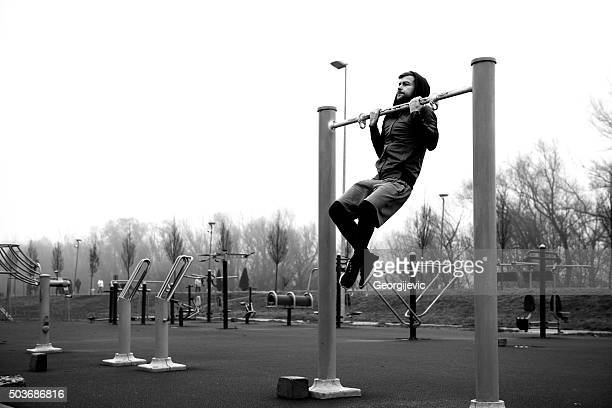 feeling motivated - chin ups stock photos and pictures