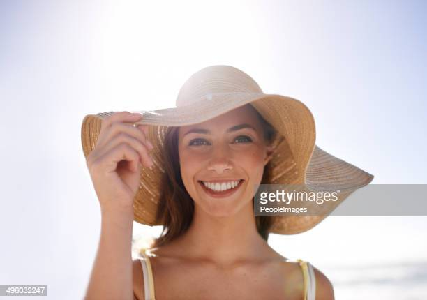 Feeling summery in her sunhat