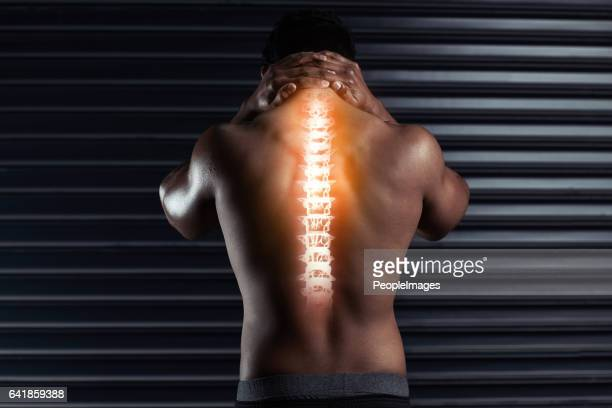 Feeling the pressure on his spine
