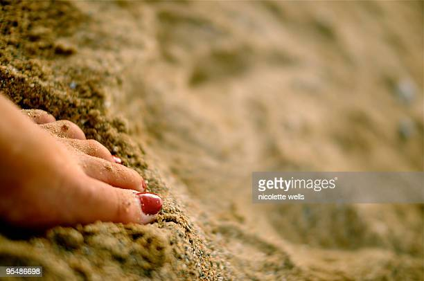 Feeling the sand between my toes