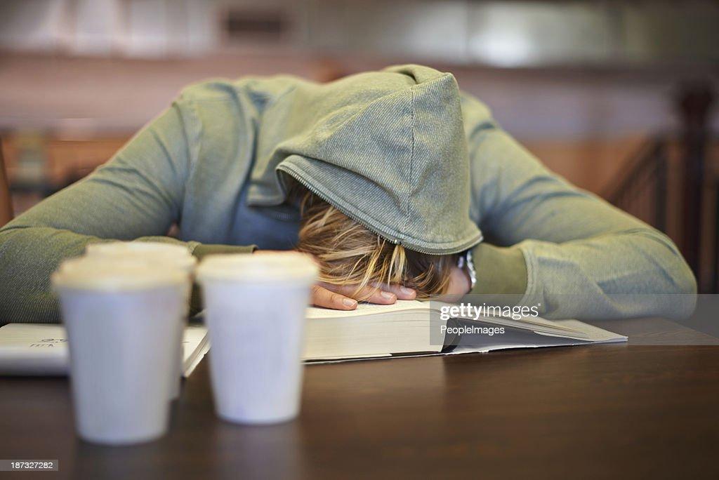 Feeling the strain of looming exams : Stock Photo