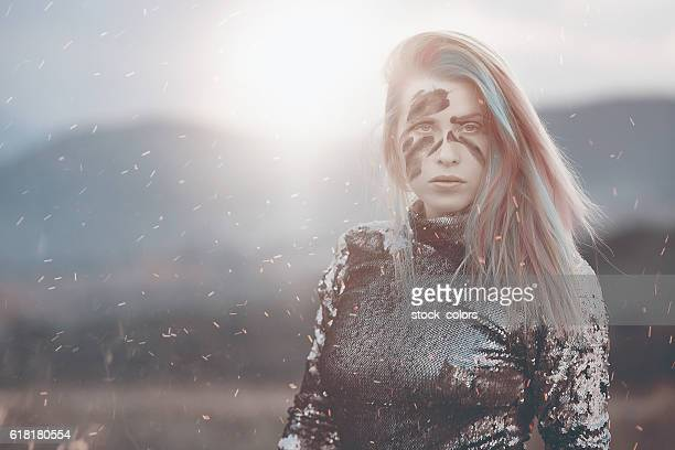feelings, war and sunset - warrior person stock photos and pictures