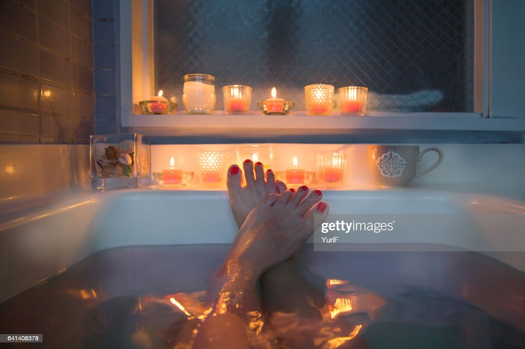 Feet in bath : Stock Photo