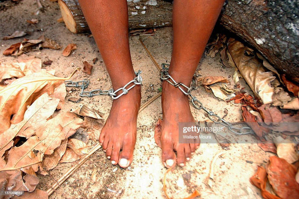 Feet in Chains : Stock Photo