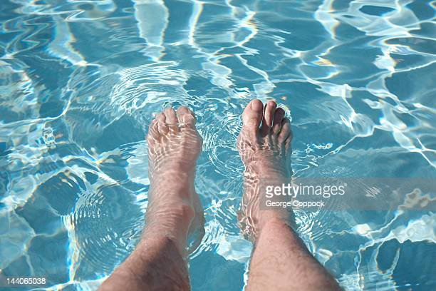 Feet in swimming pool