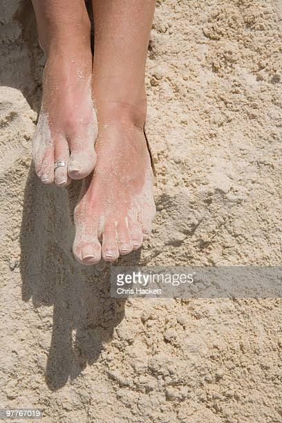 feet in the sand - hackett stock photos and pictures