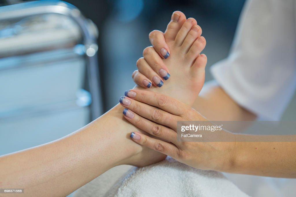 Feet Massage : Stock Photo