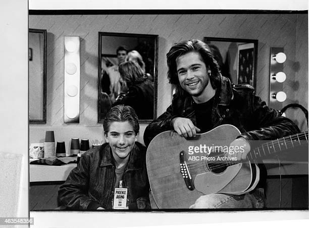 "Feet of Clay"" - Airdate: February 9, 1989. L-R: JEREMY MILLER;BRAD PITT"