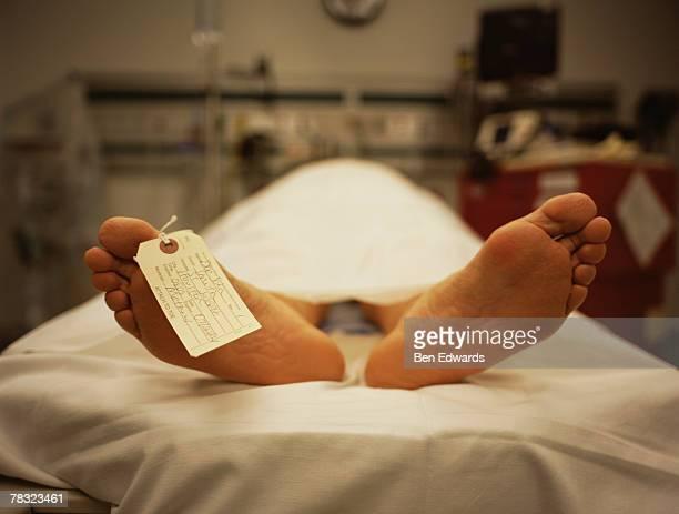 Feet of corpse
