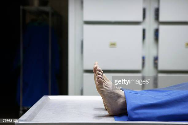 Feet of Dead Person in Morgue