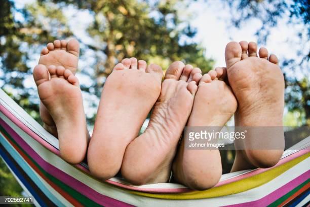 Feet on hammock