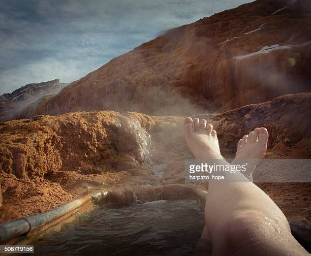 Feet Up at the Hot Spring