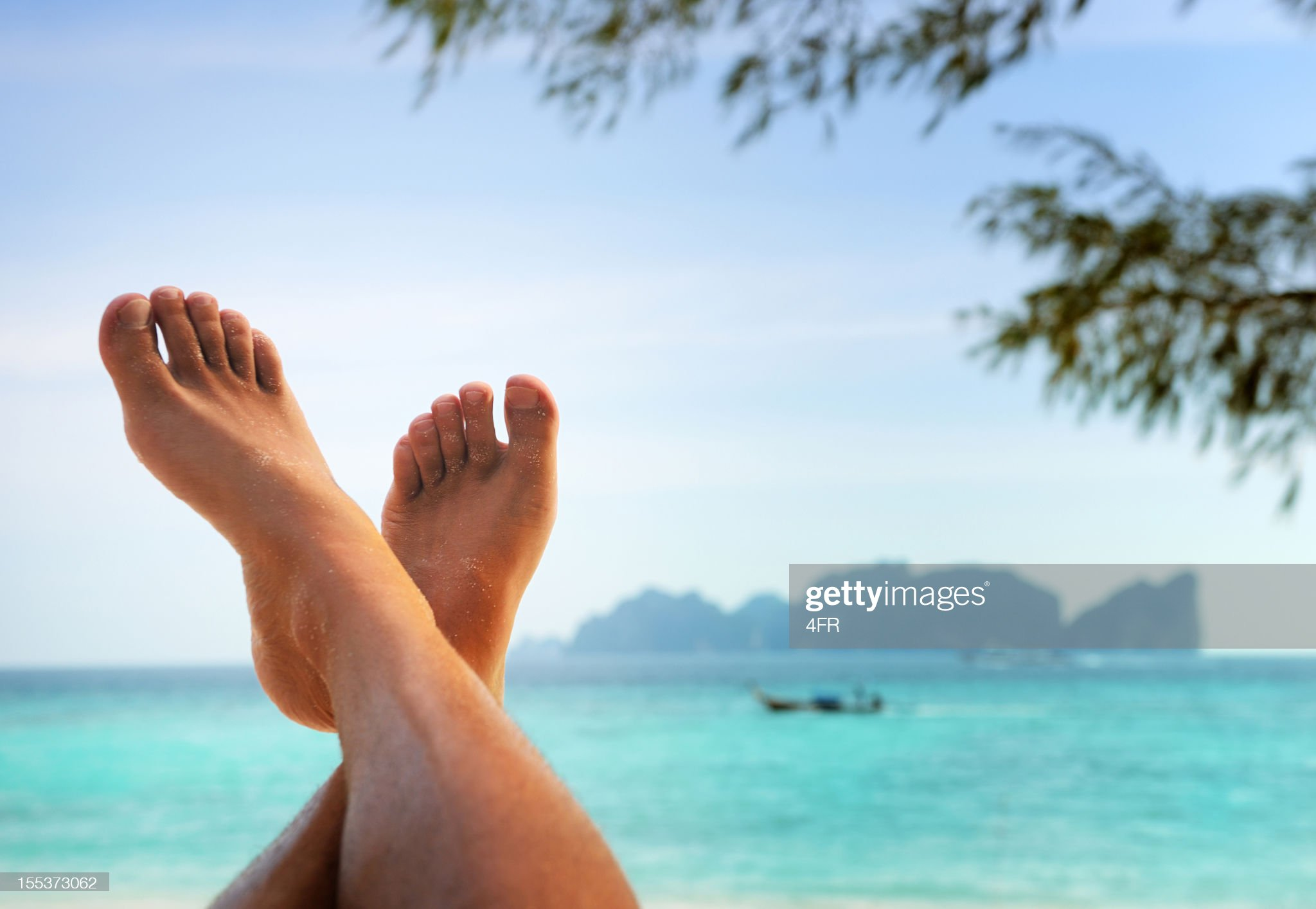 Feet up in Paradise - Time to Relax (XXXL) : Stock Photo