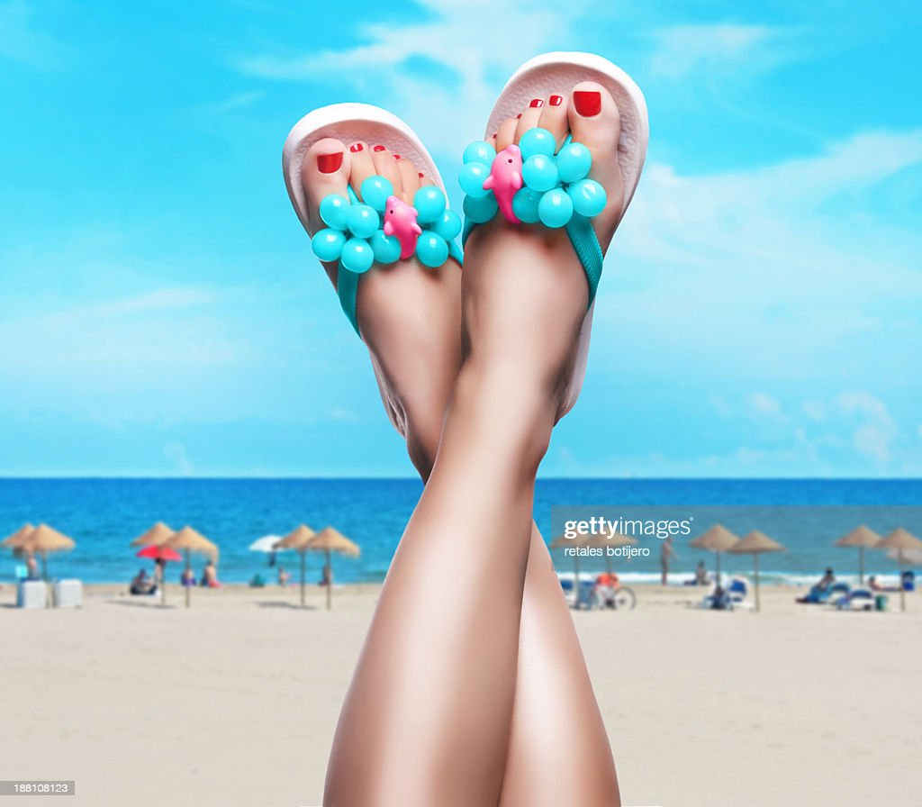 Feet up in summertime : Stock Photo