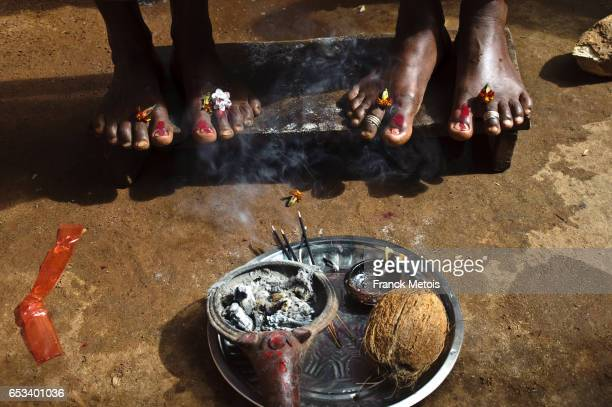 feet worship ( india) - lakshmi puja stock photos and pictures