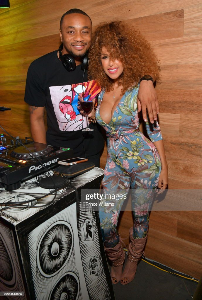 Feezy and Aisha Thalia attend Baller Alert's Bowl With a Baller at Basement Bowl on October 5, 2017 in Miami, Florida.