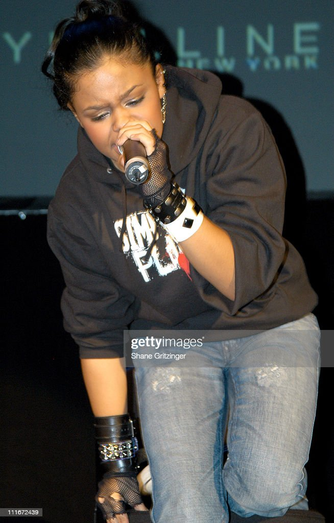 Fefe Dobson during Teen People Kick Off the First Annual Music Appreciation Day with Host Pharrell Williams at Talent Unlimited High School in New York City, New York, United States.
