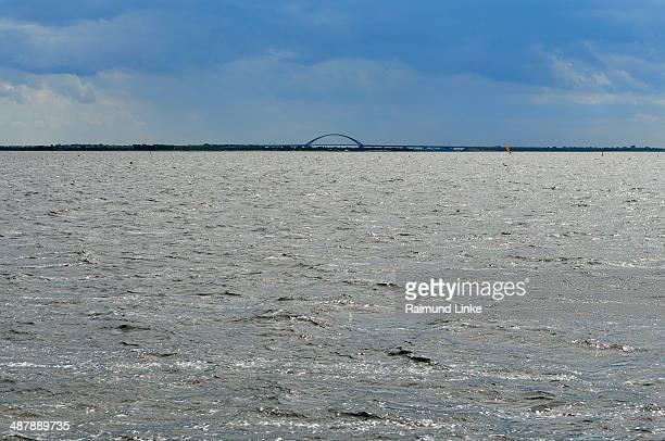 Fehmarnbelt Bridge with Sea