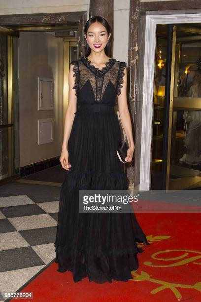 Fei Fei Sun is seen at The Pierre Hotel in Midtown on May 7 2018 in New York City
