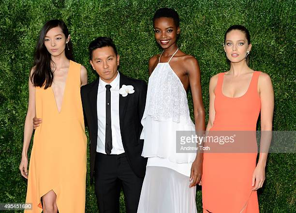 Fei Fei Sun, Maria Borges, Prabal Gurung, and Emily DiDonato attend the 12th annual CFDA/Vogue Fashion Fund Awards at Spring Studios on November 2,...
