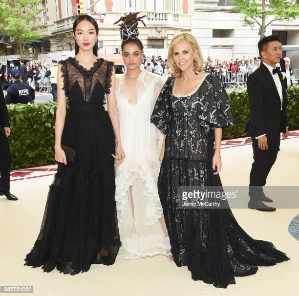 Fei Fei Sun Sasha Lane and Tory Burch attend the Heavenly Bodies Fashion The Catholic Imagination Costume Institute Gala at The Metropolitan Museum...